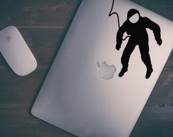 Astronaut / Cosmonaut Decal Sticker  | Apple decal sticker about Space | vinyl retina macbook pro laptops, mac, Macbook Decal Sticker