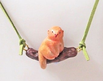 Monkey handmade necklace