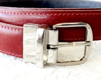 Leather belt in brick , mens belt , Leather belt men , Tooled leather beltצ Fathers day gift