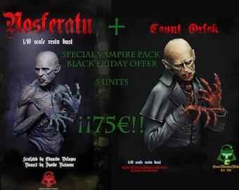 SPECIAL VAMPIRE PACK, 2 busts: Nosferatu+ Count Orlok