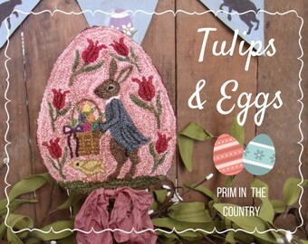 Tulips & Eggs Punch Needle Pattern