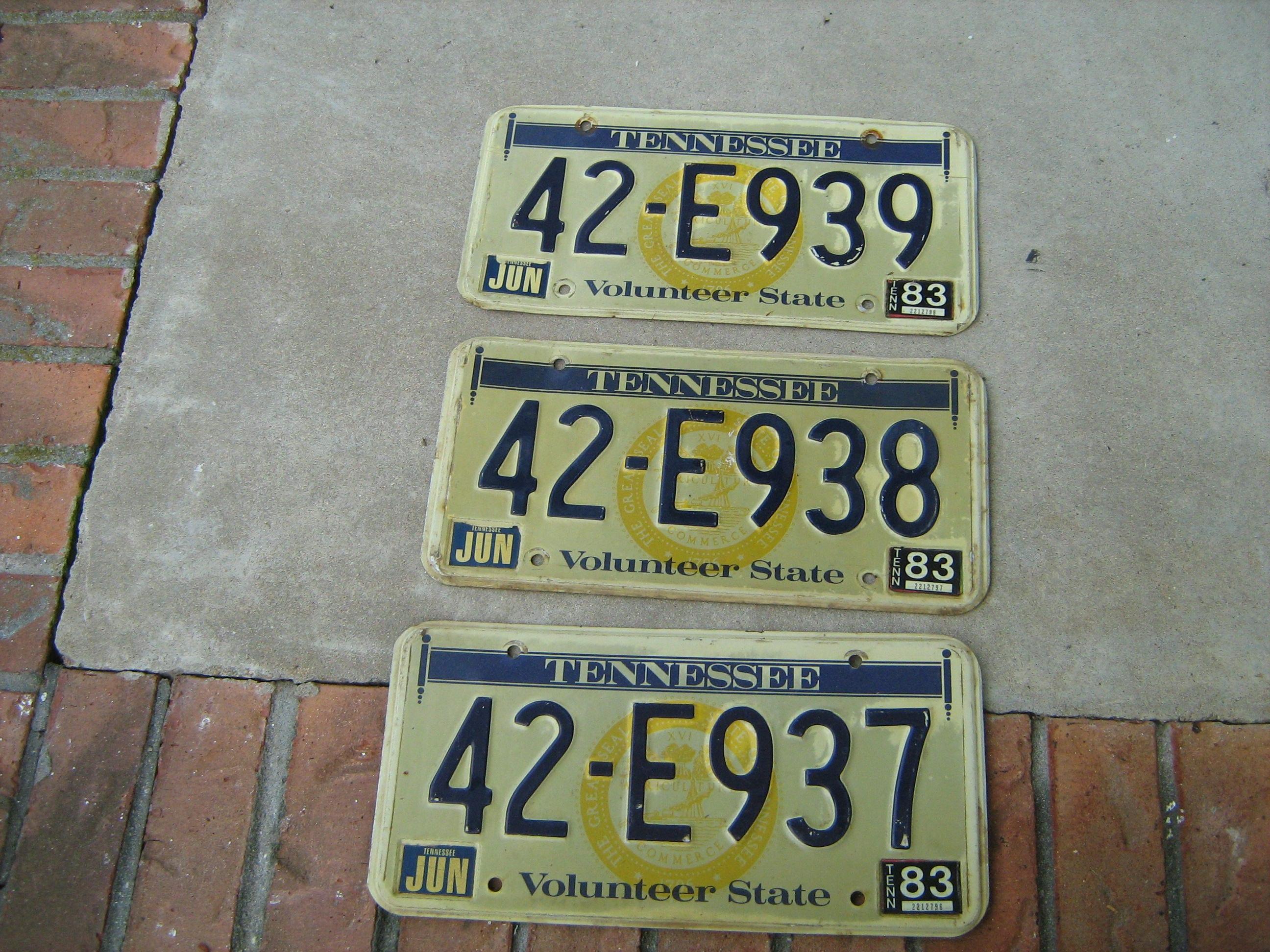 Unique Tenn License Plate Frieze - Classic Cars Ideas - boiq.info