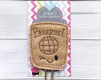 Passport Paper Clip - Passport Clip - Planner Paperclip - Planner Accessories - Planner Feltie - Passport Paperclip - Passport Feltie