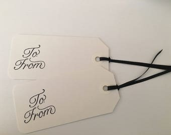 Black-Tie Gift Tags (Set of 10)