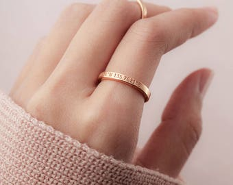 Custom coordinates ring - Coordinate jewelry - Longitude latitude gift - Graduation gift - Lat long jewelry - Gold ring with coordinates
