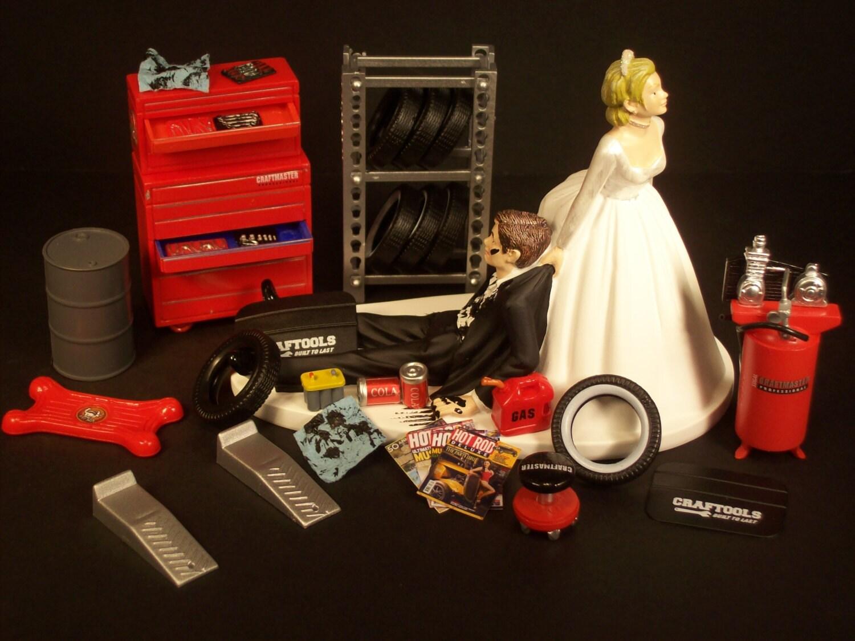 sale wedding cake topper for mechanics auto mechanic