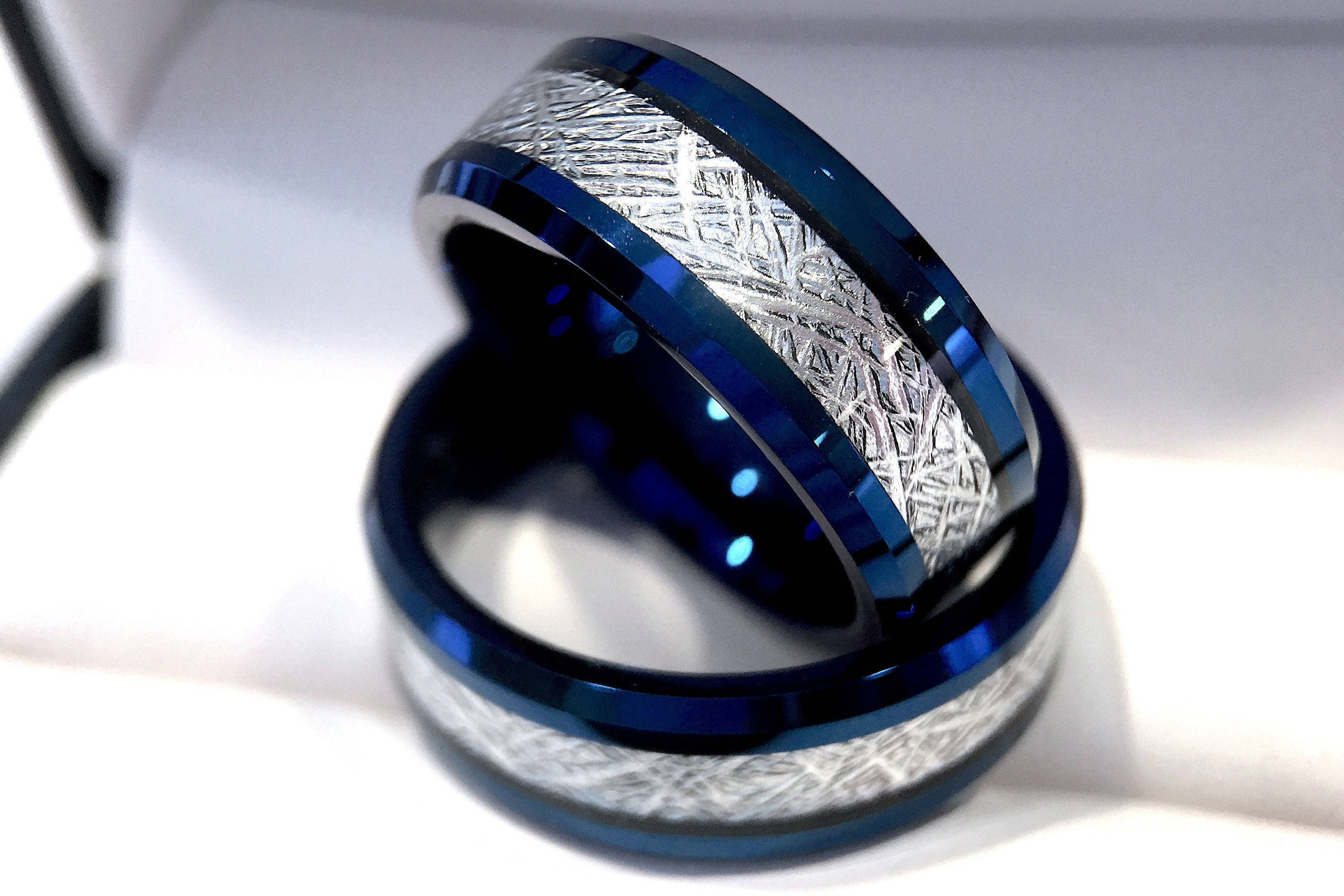 s tungsten il listing men bands wedding rings meteorite fullxfull zoom blue