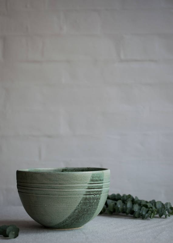 Serving Bowl in Mint Green