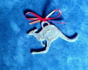 Pewter Kangaroo Ornament
