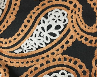 Upholstery Fabric - Victoria - Carnival - Bold Paisley Cut Velvet Home Decor Upholstery & Drapery Fabric by the Yard -Available in 10 Colors