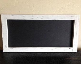"Large Rustic Chalkboard 12""x24"", Kitchen Chalkboard, Framed Chalkboard, Menu Board, Wood Chalkboard, Wedding Chalkboard, Dormroom Chalkbord"