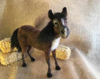 Needle Felted Bay Gelding