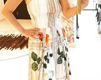 1950s floral print dress