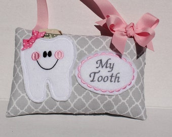 Tooth Fairy Pillow - Personalized Tooth Fairy Pillow - Baby Tooth Keepsake - Tooth Fairy Pillow - Tooth Fairy Certificate - Tooth Fairy Dust