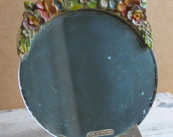 Vintage Made In England Floral Mirror