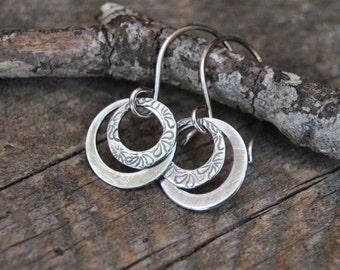 Small Silver Hoops, Minimalist Earrings