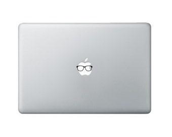 Tiny Nerd Glasses Macbook Decal - Nerd Glasses Laptop Decal - Nerd Decal