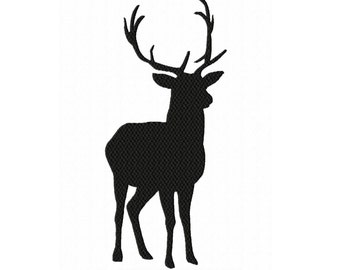 Silhouette Stag/Buck 1...Instant Download...Fill Machine Embroidery Design NO. 68