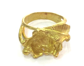 Raw Brass Adjustable Ring Blank (8mm Blank) G10057
