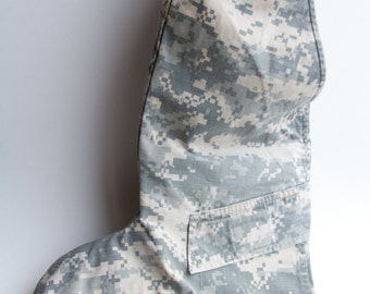 Military Stocking Handmade from U.S. Army ACU Uniform!