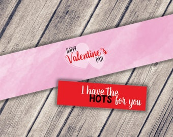Mason Jar Printable Label / Happy Valentine's Day / Jar Label / Instant Download / I Have the HOTS for you / Valentine