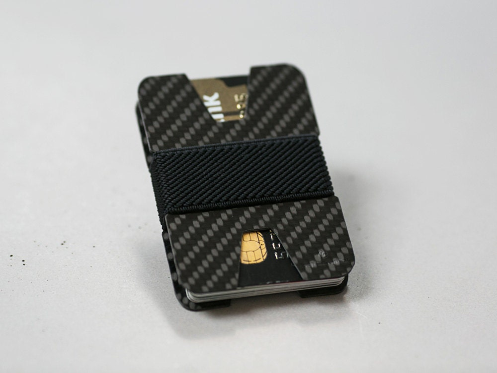 Slim wallet business card holder carbon fiber wallet
