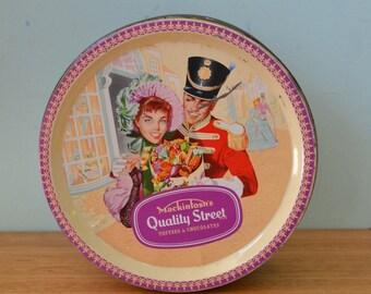 Vintage Mackintosh's Quality Street confectionery metal tin storage LBt2