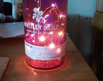 Whitley Neill gin bottle light