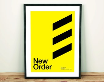New Order Remixed Gig Poster, Art Print, Music Poster