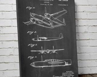 XP-58 Chain Lightning Airplane Canvas Art, Aviation Wall Art, WW2, Airplane Canvas, Canvas Wall Decor, PP0069