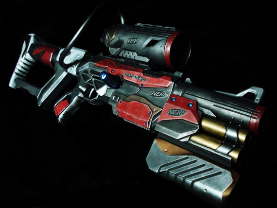 Items similar to Nerf Modulus Tri-Strike rifle Mass Effect Themed custom  Artwork by Nelson on Etsy