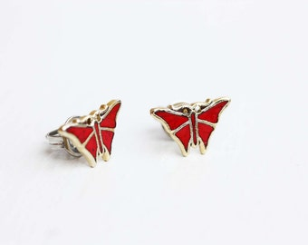 Red Butterfly Studs
