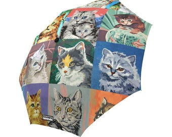 Paint By Number Cats Umbrella - PBN Cats foldable umbrella
