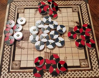 Tafl Game Pieces also known as Viking Chess
