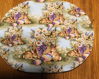 "Easter Bunny Placemats  set of 4  14"" x 18"""