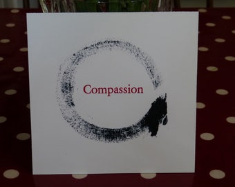 Compassion Enso Postcard
