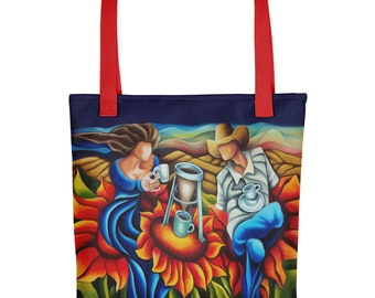 Tote bag - Coffee for two, original painting by Miguez.