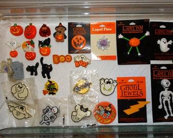 Vintage Hallmark Pins Lot of Halloween Fall Holiday Lapel Pins Brooches CHOICE