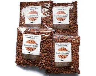 Apricot kernels/ organic/ raw/ bitter apricot kernel seeds/Vitamin b17/Certified/ 4 POUND's (64 OZ)