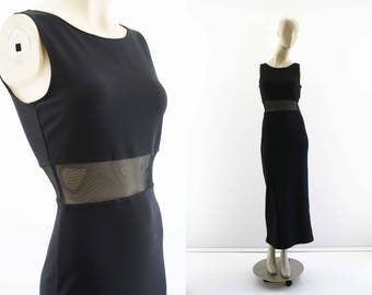All That Jazz Black Sleeveless Woman's Vintage Dress