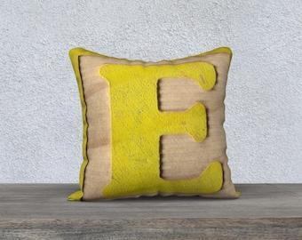E Block Pillow Case