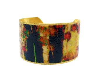 Art Lover Bracelet - Birthday Gift - Gift for Her - Fine Art Bracelet - Unique Cuff Bracelet - Brass Cuff - Contemporary Jewelry