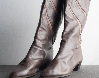 Vintage Two Tone Leather Boots