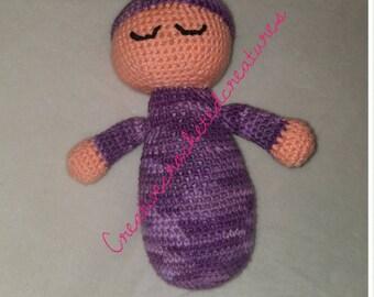 Crochet sleepy doll handmade customisable