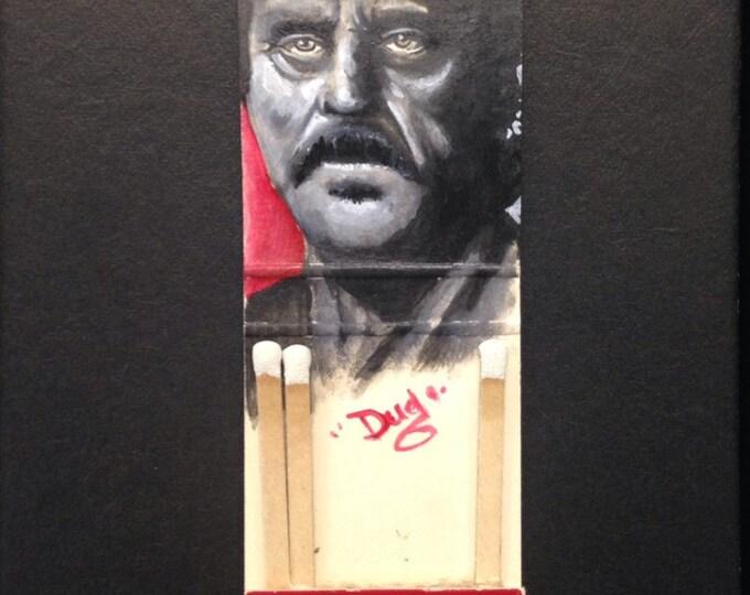 Matchbook painting - Al Swearengen  - Deadwood   -   acrylic