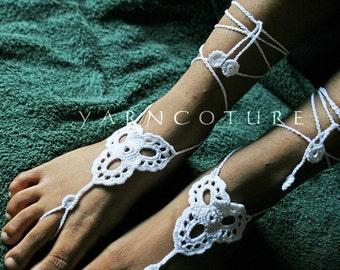 Barefoot Sandals / Eastern Design - Bridal Sandals/ Beach Sandals
