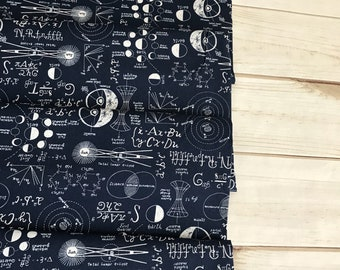 Chalkboard in Navy ~ Supernova Collection by Rae Ritchie for Dear Stella Designs