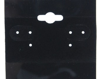 "Hanging Earring Cards Black 2"" Plain (Pkg of 100)  (DER800)"