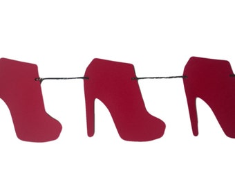 High Heel Shoe Stiletto Boot Garland 21st Birthday Party Bachelorette Party Hen Party Bridal Shower Party Decorations