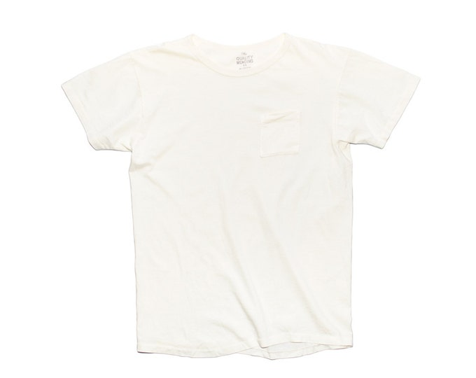 QMC California Pocket Tee - Off White - 100% Cotton Jersey T-Shirt
